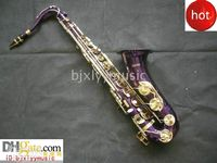 Wholesale HOT Purple Tenor saxaphone High F accessories with case