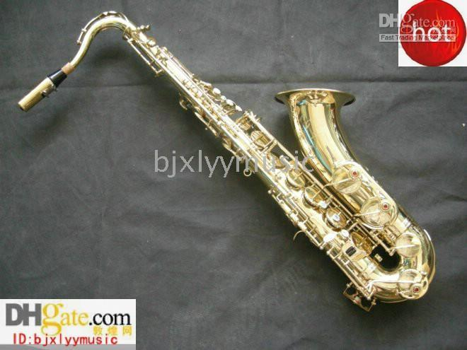 Wholesale HOT CTE Gold plated Tenor saxaphone High F accessories with case Freeshipping