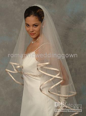 champagne color side wedding fashion veil 015 wedding veil headpiece