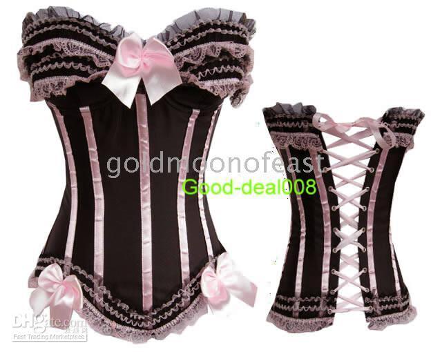 Wholesale Lace Panty pieces Sexy BLACK PINK Lingerie corset Bustier G string S M L XL XXL