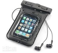 Wholesale iPhone GS S waterproof Case bag Gear Bag Dry bag with armband earphone for Iphone Free HK Post