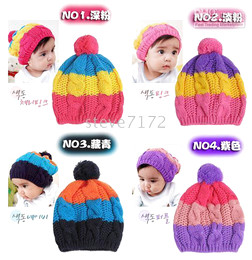New Baby hats caps headgears baby earmuffs hats infant caps girls bonnets knitting hats ST-389A