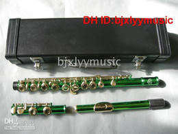 NEW Green Flute with case Musical Instruments Woodwind Flute free shipping