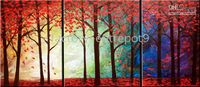 Wholesale 100 hand painted Arts gt gt OIL PAINTINGS HUGE Landscapes TREES ART