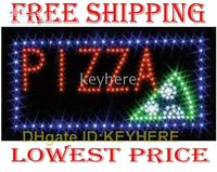 Wholesale LED Neon Light Animated Motion PIZZA Business Sign led solar ligh lamp board