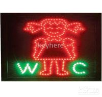 Wholesale Led WC neon sign solar light lamp board led light for restroom sign light for female toilet pc