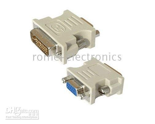 Wholesale DVI male to VGA female adapter adaptor DVI D DVI I DVI A