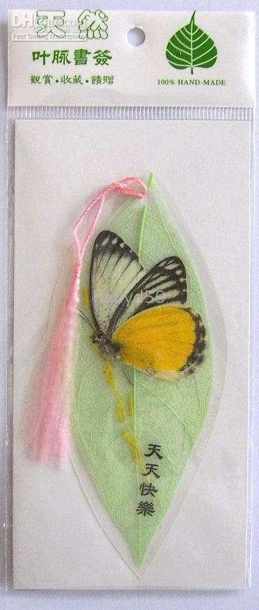 Wholesale 12pcs True Butterfly specimen vein bookmark Hand made Natural