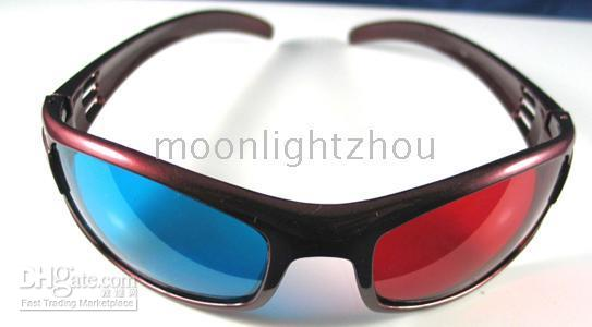 Wholesale 50 Red Blue D Glasses For Video DVD Movie Game movies