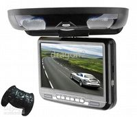 Wholesale 9 inch flip down DVD GAME player SONY Lens Car DVD Black