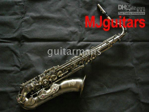 Wholesale HOT Selmr Antique carved saxaphone with case