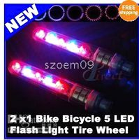 Wholesale 2 x New Bike Bicycle Flash LED Tire Wheel Spoke Light