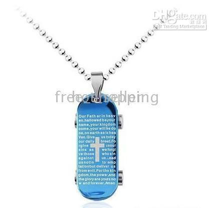 beautiful bible - brand New stainless steel chain necklace white bible pendant beautiful men s jewelry brand new