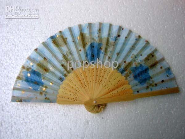 asian folding fans - 100pcs Handcraft Asian Chinese Silk folding Bamboo Fans