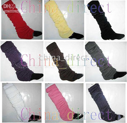 winter Leg warmers womens knit Tight & Sexy leg warmer 35 pairs lot Mixed style color #3489
