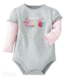 long sleeve Romper Bodysuits Oneises babysuit Rompers Baby pajamas 40pc lot