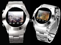 Wholesale 20pcs full of steel Quadband watchphone W968 bluetooth mp3 mp4 spy cellphone watch