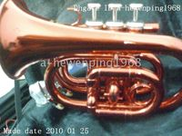 Wholesale NEW NEW RED MINI POCKET TRUMPET