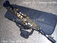 Wholesale China great blue Soprano Saxophone made in China blue