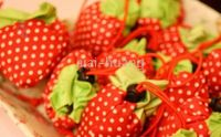 Wholesale 100pcs stawberry foldable bags grape foldable bags reusable shopping bags gift bags grocery bags