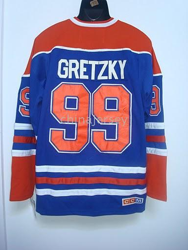 Wholesale Edmonton Wayne Gretzky Blue Jersey size drop shipping