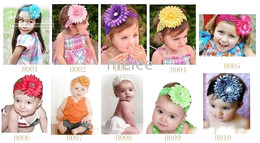 Wholesale Baby girls hair bow gerber daisy flower headband clip Large Daisy Flower Clips for Headbands Hat