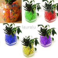 Wholesale 100 Packets Multi color Magical Crystal Mud Soil Beads Fertilizer For Plant Flower