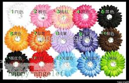 Descuento las cabezas de flor clips Crochet banda para la cabeza, niñas, Accesorios para el Cabello bebé de cabello arco clip flor de Ganchillo Diadema clipper 50pcs