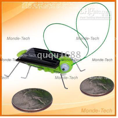 Wholesale 10081 Selling By Solar Powered Insect Bug Grasshopper gadget funny Toy Novelty Games