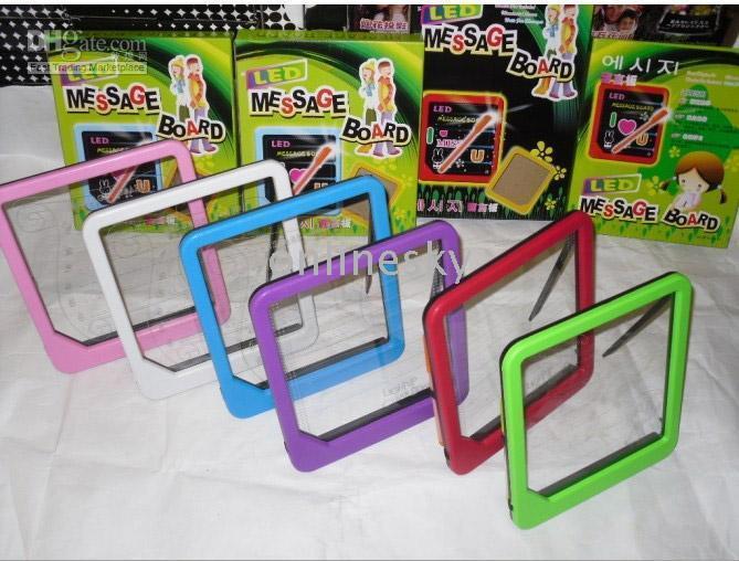 Wholesale 50pcs cm LED Message Writting Board Multi Colors