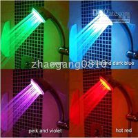 Wholesale LED Temperature Control Color Lights Shower Head No batteries