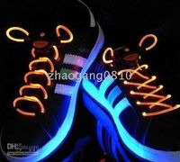 Wholesale XMAS GIFT LED Flashing Light Up Shoelaces Neon Colors running shoes boots and skate shoe shoelace