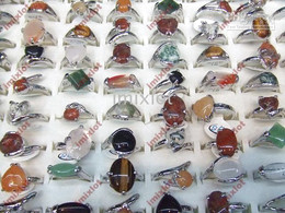 Wholesale Jewellery Rings Jewelry Ring Rings Natural Stone Rings Semi Precious Stone Rings STS01