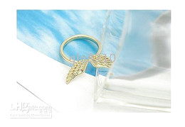 Lovely Sweet Angel Wings Rings Fashion Alloy Ring Adjustable two Color Brand New 20pcs lot
