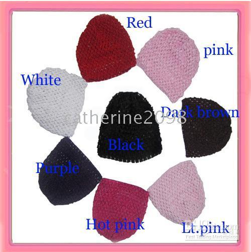 Wholesale 12pcs New Baby waffle crochet beanies knit waffle beanies can mix order Drop shipping