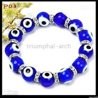 Wholesale Fashion turkey eye beads Jewelry Bracelet coloured glaze beads Beaded Strands croci