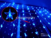 Blue 80 LED String Star lights for Christmas Wedding Party 6...