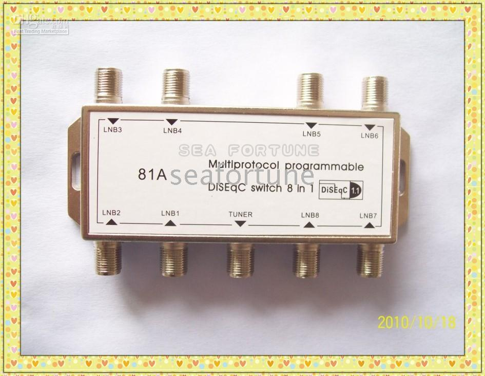 Wholesale Multiprotocol programmable DisEqC switch in out SatelliteTV accessory DiSEqC1 control