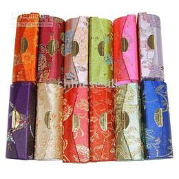 Mirrored Lipstick Case Holder Lip Balm Tubes For Sale Silk Metal clasp Lipstick Boxes 12pcs lot Free