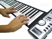 Wholesale 61 keys hand rolled keyboard silicone foldable keyboard soft piano hand rolled the piano