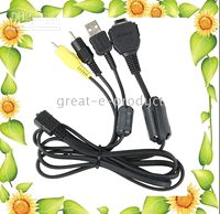 Wholesale 20pcs VMC MD1 USB AV multi Terminal Cable for sony DSC P120 DSC T300 DSC W200 W300 T700 T77