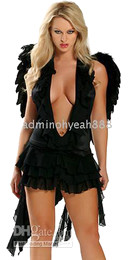 Wholesale New fashion recommend sexy costume cosply costume angel costume C1210 black