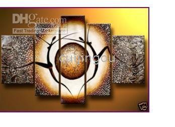 More Panel Oil Painting Abstract Handicraft Abstract Modern Large Art Person Wall Decor Oil Painting On Canvas -(5 Panel)#C178