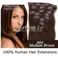 "5sets 15"" 7pcs set remy Clip- in hair Human Hair Extensi..."
