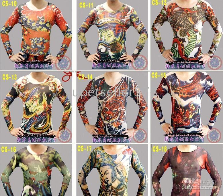 Wholesale fashionable hot sale T shirt long sleeve tattoo clothing tattoo tattoo ma17