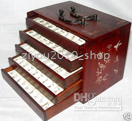 Wholesale 144 Tiles Bamboo Mah Jong Set and Rosewood Box