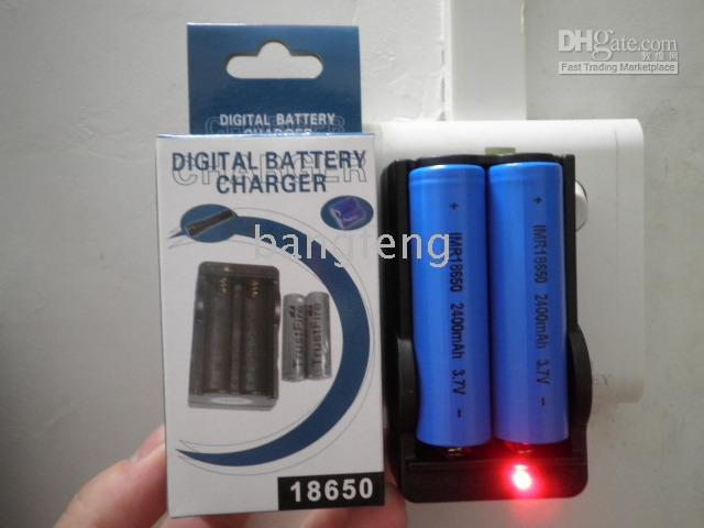 Camera Chargers black Standard Charger battery+18650 charger travel charger Flashlight charger, laser pointer charger, camera charger 18PCS