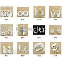 Plastic Silver Silver Wholesale - (Jewelry Manufacturer) earrings 925 sterling silver jewelry factory price Fashion