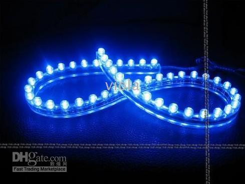 Wholesale 120cm White LED Flexible Light Lamp Strip Car Waterproof Bulbs