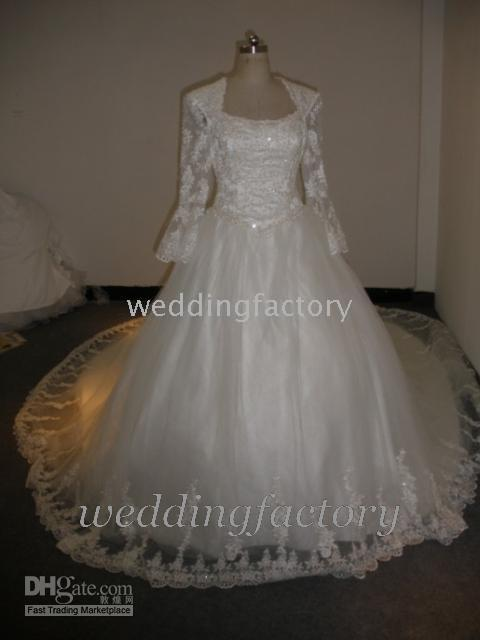 2010 wedding dresses - 2010 style Manufactory fashionable piece Monarch Train designer wedding dress with lace jacket